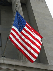 United States of America - Flag -Flag hanging off a wall