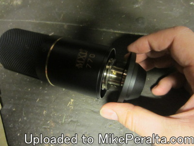 MXL 770, Removing Base -My MXL 770 condenser microphone, as I remove the base.